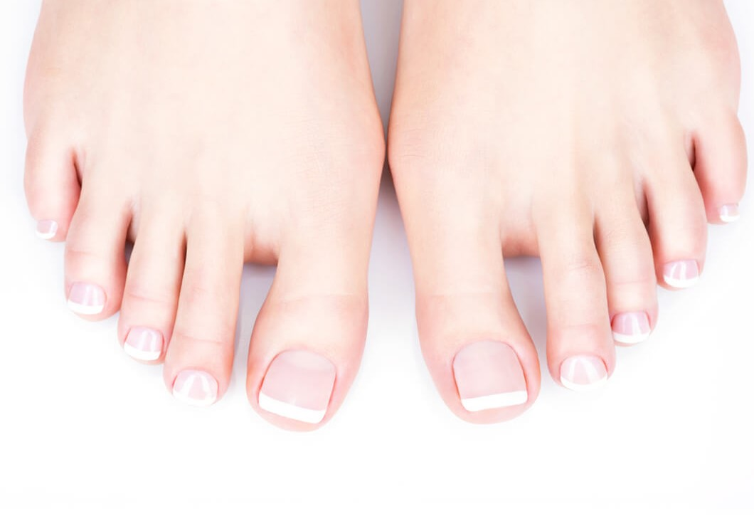 polygel and nail tips for feet